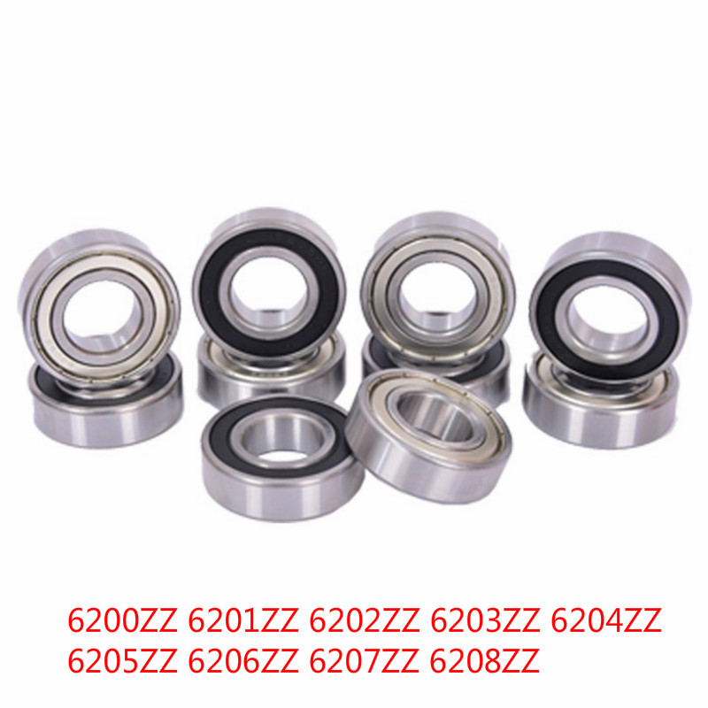 Single row deep groove ball bearing double cover type 6200 6201 6202 6203 6204 6205 6206 6207 6208 image