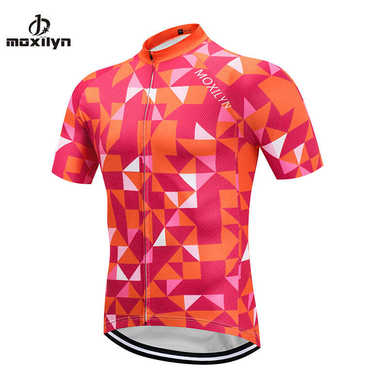 Mens Cycling Jersey Team Bicycle Clothes MOXILYN Bike Clothing Ropa Ciclismo Short Sleeve Quick Drying Riding Maillot