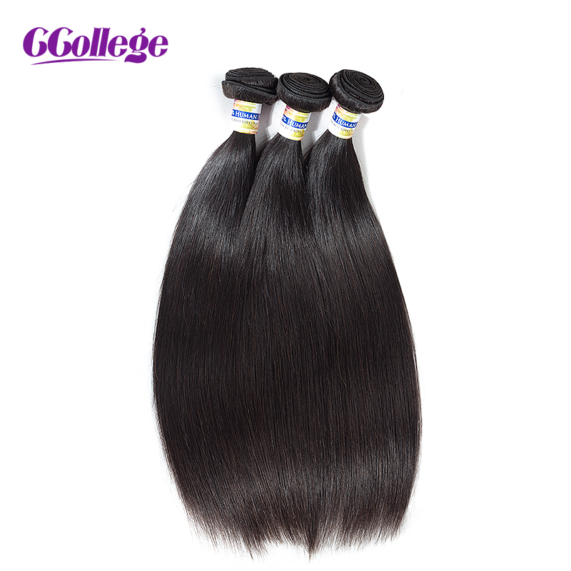 Ccollege Peruvian Straight Hair Weave Bundles 3 Bundle Deals 100% Human Hair Extensions Natural Color 8-28inches Remy Hair Sales