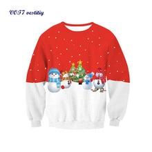 Autumn/winter cloth VOT7 vestitiy Women Long Sleeve Pullover Sweatshirt Santa Claus Christmas Tops Free shipping Oct 19