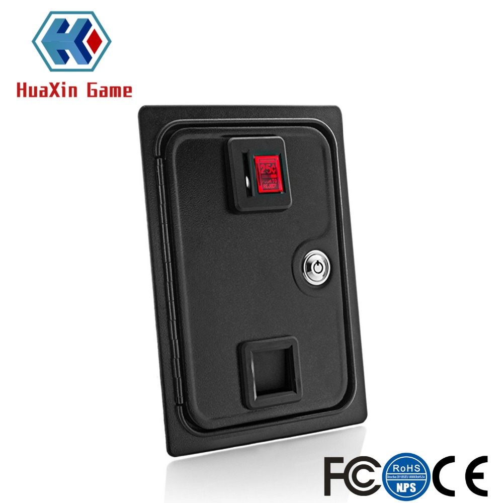 Arcade Coin Door With Quarter Acceptor For MAME or Arcade Replacement LED Backlight and Iron Door Construction 36 23 56cm arcade coin door with quarter acceptor