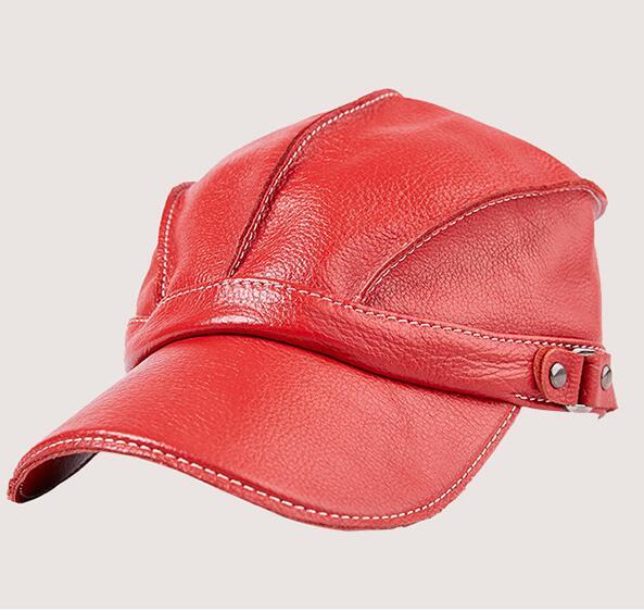 Hommes femmes en cuir de vache naturel ajustsize chapeau mâle en cuir véritable tenue de sport casquettes de Baseball TB400