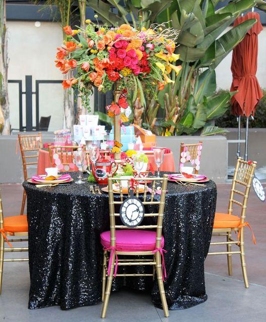 Factory Directly Wholesale 10PCS Wedding Decorative Black Glitter Sequin  Tablecloth 120u0027u0027 Round Sequin Table