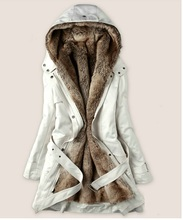 The jacket is long, faux fur lining women's fur coats winter hoodies ladies warm coat cotton clothing Thermal Parks WWM05 …