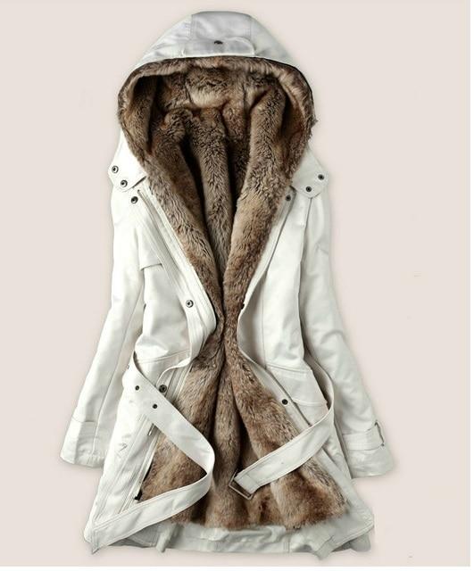 Aliexpress.com : Buy The jacket is long, faux fur lining women's ...