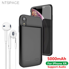 NTSPACE 5000mAh Liquid Silicone Shockproof Battery Charger Cases For iPhone XR Power Bank Charging Case External