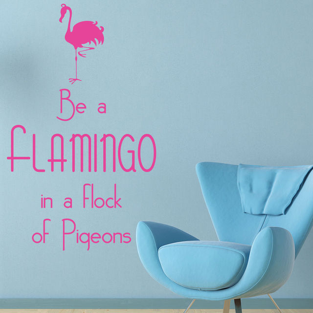 Be A Flamingo Wall Sticker Inspirational Quote Wall Decal Teen Girls Decor  Art Paintin Vinyl Decor Decals