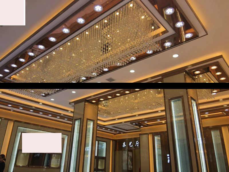 สี่เหลี่ยมร้านทองคริสตัลโรงแรมโรงแรมทางเดินคลื่นโคมระย้าKTVคลับโครงการฮอลล์ledโคมไฟนำโคมไฟบ้านโคมไฟ