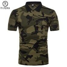 Для мужчин бренд камуфляж рубашки поло 2018 Новый Для мужчин рубашки поло Повседневное Slim Fit классический Поло Homme Армейский зеленый Camisa поло Masculina