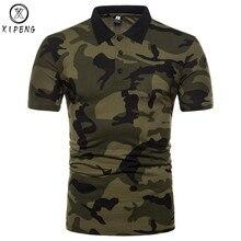 Camuflagem Camisa Polo 2018 Novos Homens da Marca dos homens Camisas Pólo  Camisa Casual Slim Fit Polo Homme Clássico Exército Ve. 666bbf675f6cb