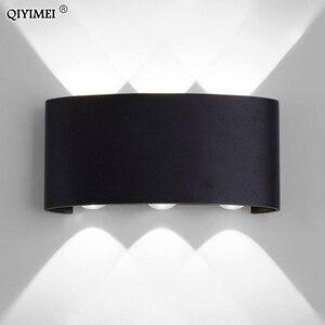 Image 5 - Белые Черные настенные лампы, алюминиевый абажур, прикроватный светильник для гостиной, освещение AC85 260V, теплое или холодное освещение