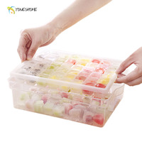 DIY Frozen Large Ice Cube Mold Lattice Box 48 Grid Bar Ice Making Tool Fruit Ice