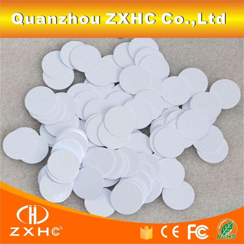 (10PCS/LOT) 125khz TK4100/EM4100 Is Compatible RFID Tags Round Shape 25mmx1mm Waterproof PVC Small Coin Cards In Access Control