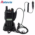 IP67 Waterproof Retevis RT6 Walkie-Talkie+Car Charger Cable 5W 128CH 1800mAh VHF UHF Dual Band VOX DTMF 2 Way Amateur Radio Set