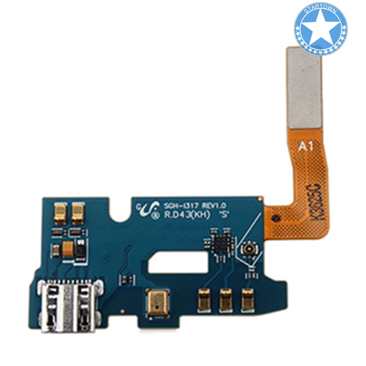 1 St Originele I317 Poort Opladen Dock Connector Mic Flex Kabel Onderdelen Voor Smsung Galaxy Note 2 Sgh-i317