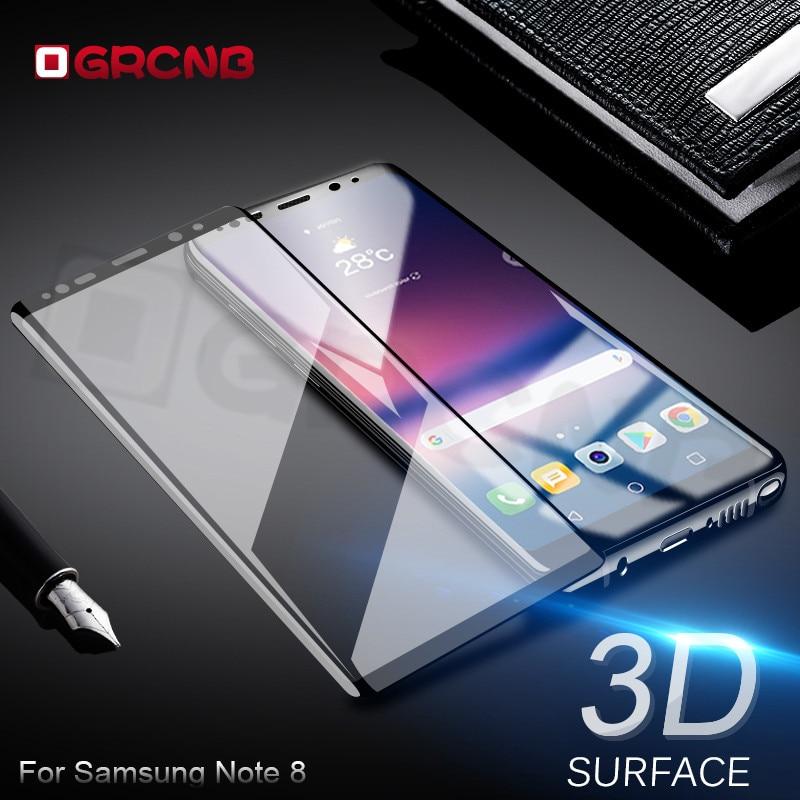 Galleria fotografica 3D Della Copertura Completa Protezione Dello Schermo Per <font><b>Samsung</b></font> Note 8 Anteriore pellicola di Vetro Temperato Per <font><b>Samsung</b></font> <font><b>Galaxy</b></font> Bordo S7 S8 Plus vetro
