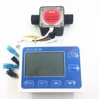 Oval gear flow meter indicator oil flow sensor Hall flowmeter fuel gauge counter Milk chemicals paint detergent G1/2 + LCD
