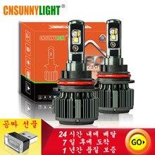 цены CNSUNNYLIGHT With Cre/e Chips H4 LED Canbus H7 H11 H1 8000LM 80W/set 9005 Car Headlight Bulb 9006 H8 Auto Fog Lamp Headlamp 12V