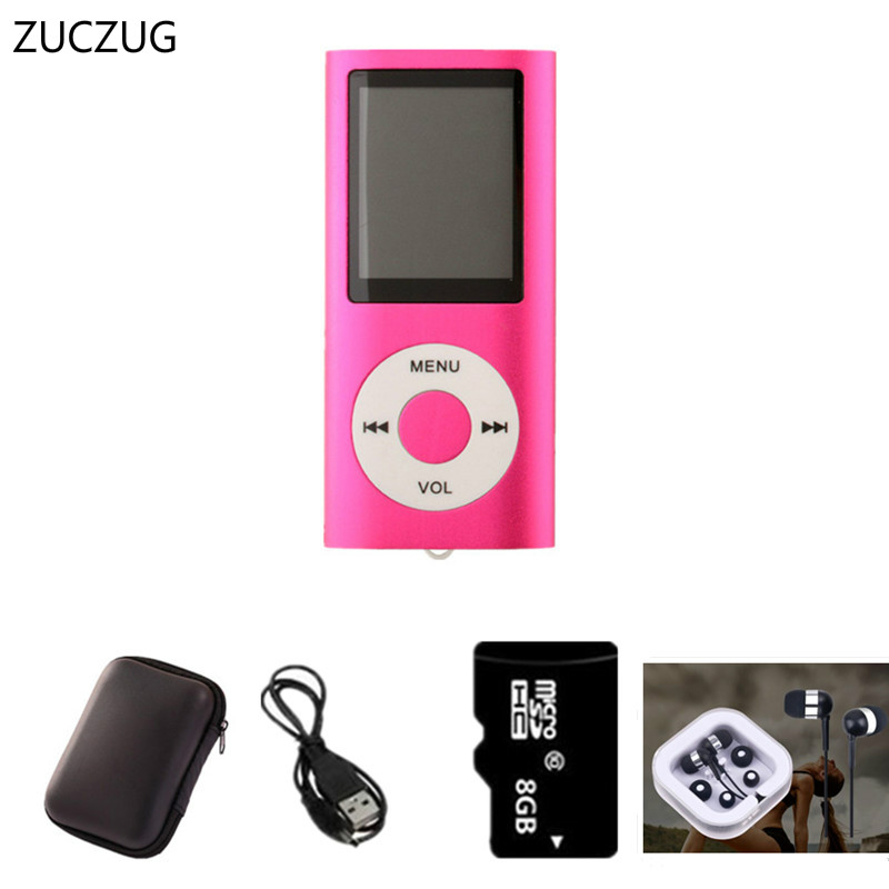 ZUCZUG High Quality 8GB MP4 Player 1.8 inch LCD Screen Voice Recorder FM Radio Video Music Player 7 Colors to Choose