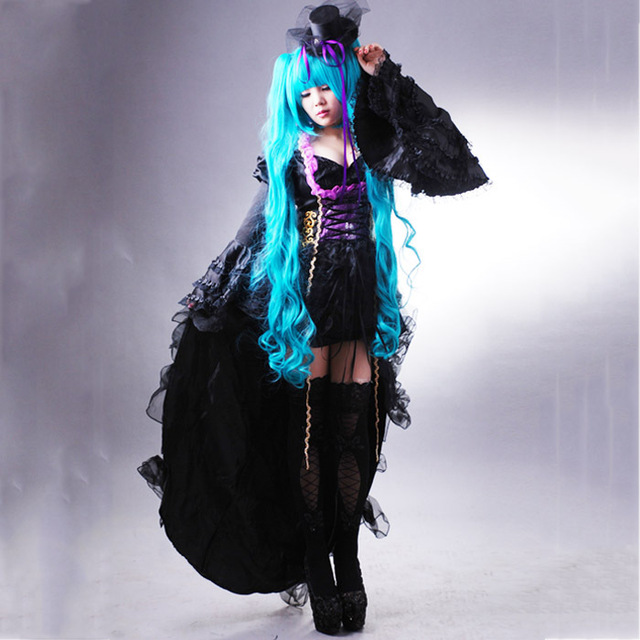 Japanese anime Anime Vocaloid cosplay costumes for women adults Singing  Dragon Hatsune Miku deluxe halloween Costumes