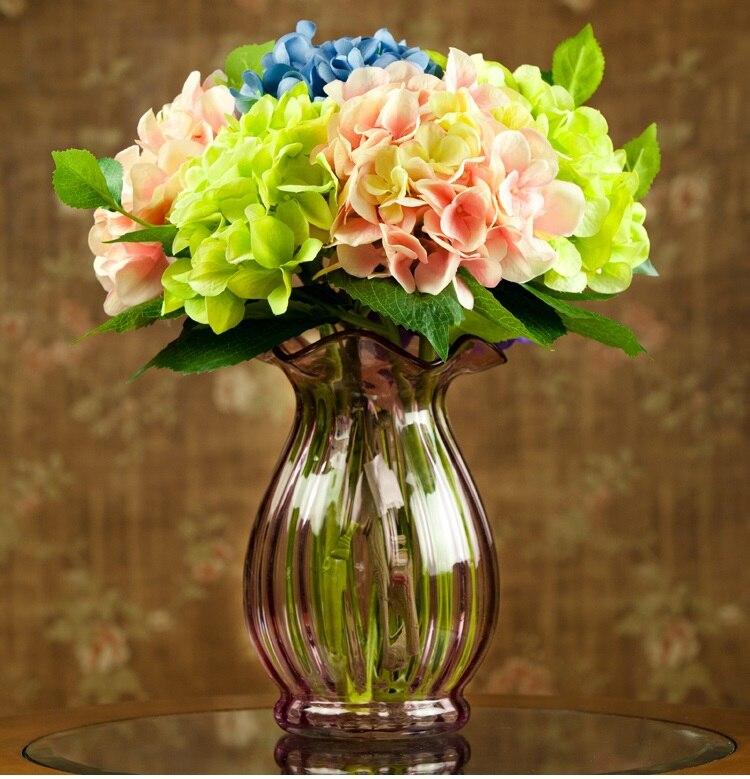 Wholesale Flowers For Weddings Events: INDIGO Wholesale 100pcs Display Flower Hydrangea Home