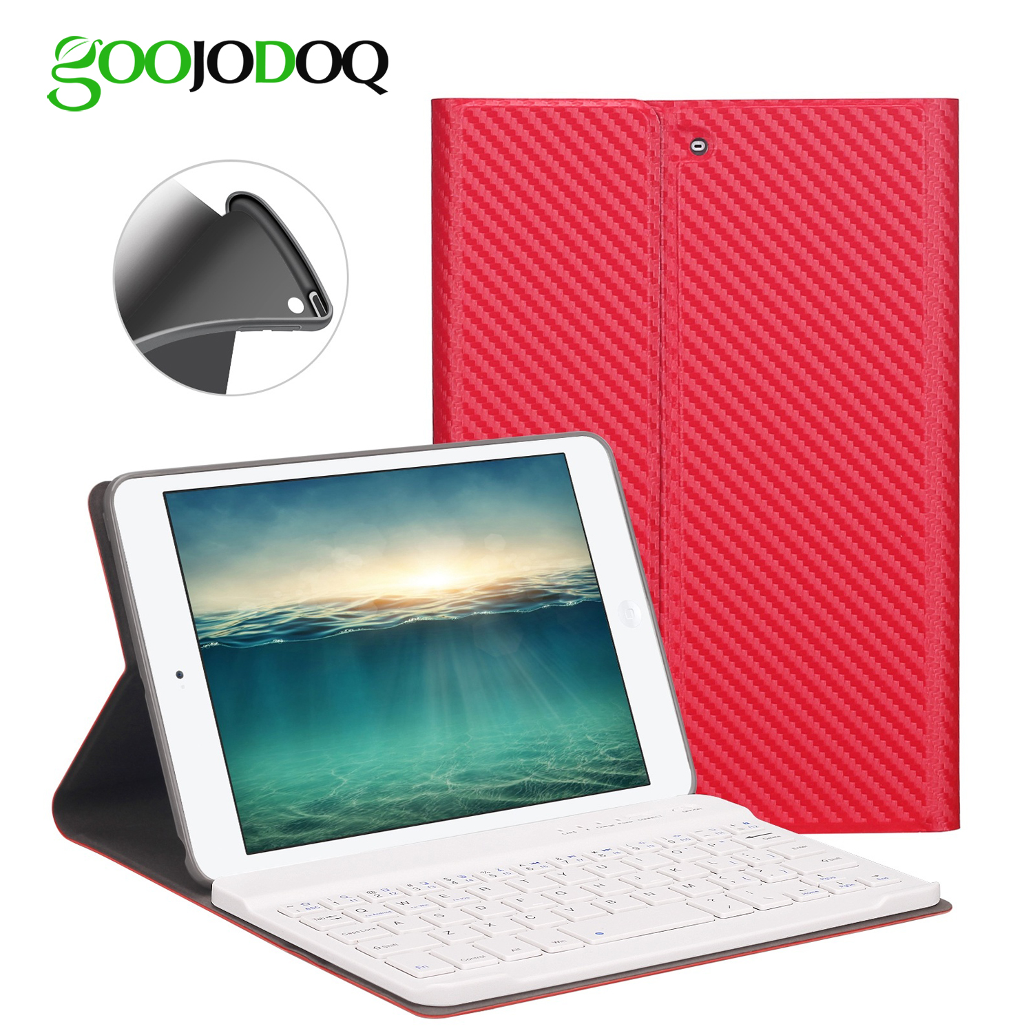 For iPad Mini 3 2 1 Case Keyboard, Silicone Soft PU Leather Smart Cover for iPad Mini Case with Wireless Bluetooth 3.0 Keyboard 7 9 inch universal detachable wireless bluetooth magnetic keyboard with pu leather cover case for apple ipad mini 2 3 4