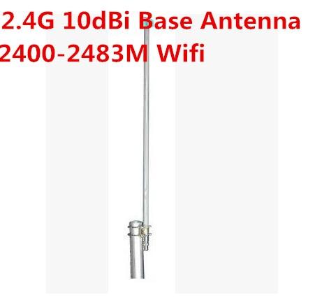 Antenne OSHINVOY 2.4G en fibre de verre antenna10dBi wifi omni antenne en fibre de verre 2400-2500 M N femelle haute gain10dBi 2.4g antenne omnidirection