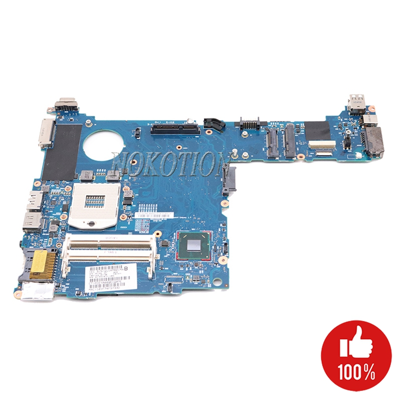 NOKOTION 651358 001 for HP Elitebook 2560p Laptop Motherboard QM67 GMA HD3000 DDR3 Mainboard Board-in Motherboards from Computer & Office    1