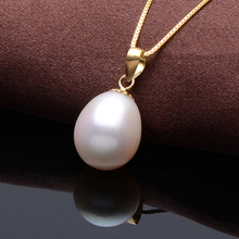 DAIMI 2016 New Genuine Pearl Necklace  Vintage Silver Pendant White Freshwater Pearl Wedding Necklace Pingente de Prata