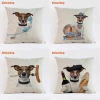 Jack Russell terrier dog animais travesseiros cobertura almofada do sofá decorativo 2018 presente de Ano novo decoração fronhas de almofada cojines