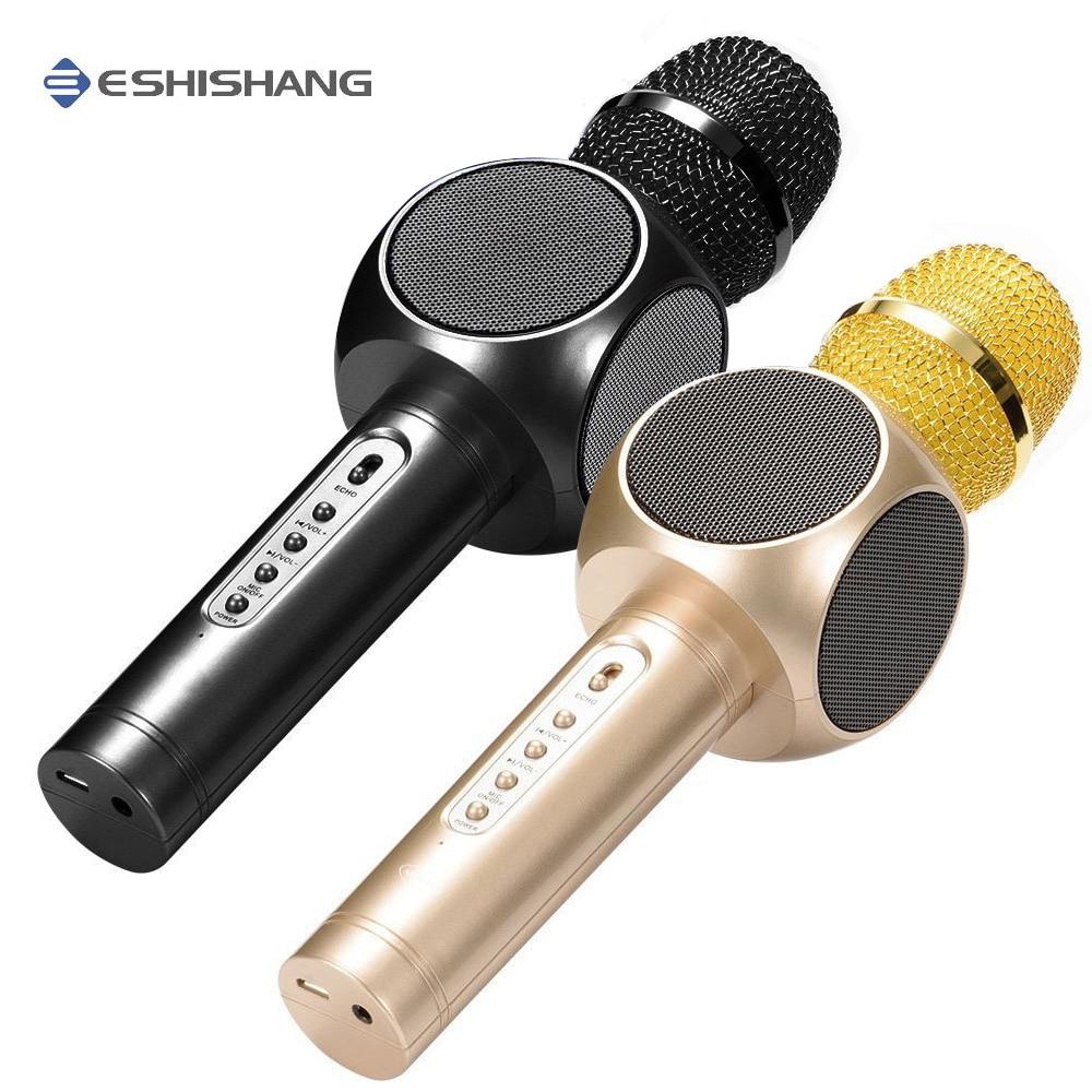 E103 Karaoke Mikrofon Bluetooth Wireless Microphone KTV ...