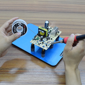 Image 5 - Toolour Magnetic PCB Board Fixed Clip Flexible Arms Soldering Third Hand Stainless Steel Base PCB Holder Welding Repair Tool