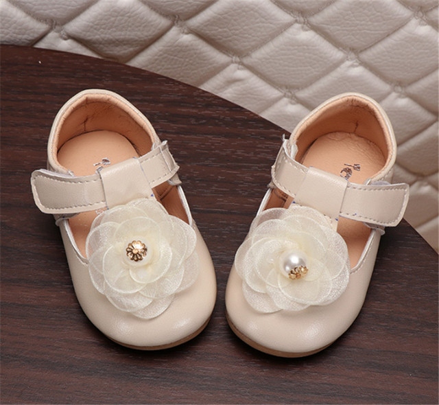 Xinfstreet Baby Girls Shoes Leather Soft Cute Toddler Kids Shoes For Girls 1 Birthday Infant Baby Shoes Size 15-25