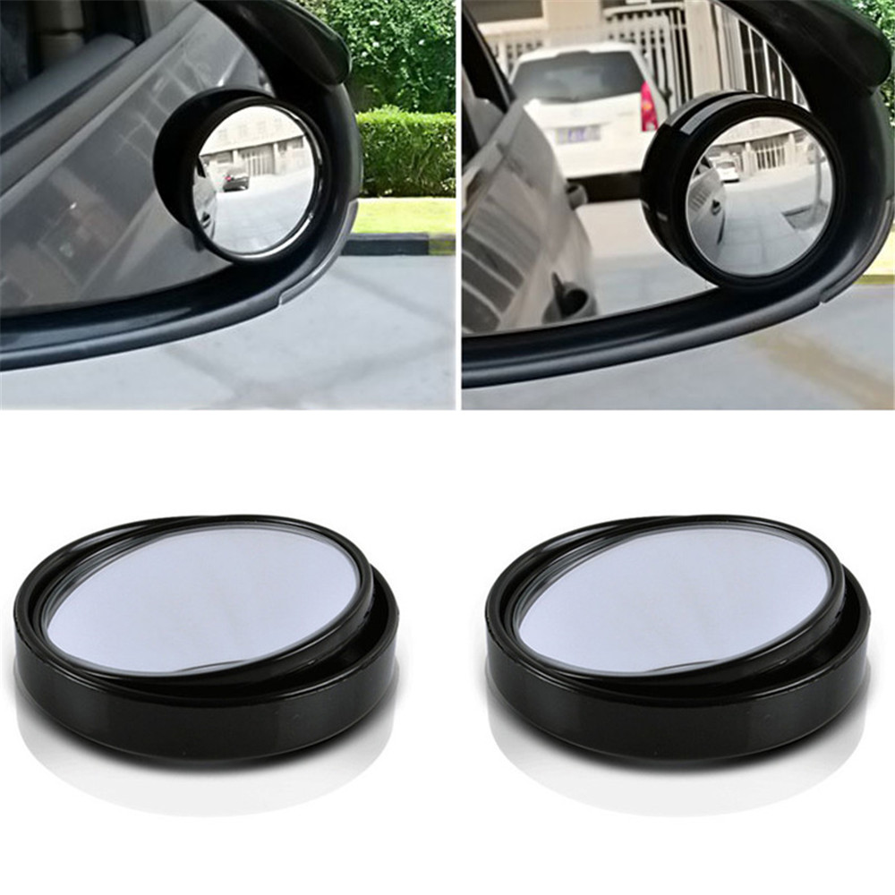2 pcs universal car van blind spot mirror adjustable driving mirrors for reversing rear with. Black Bedroom Furniture Sets. Home Design Ideas