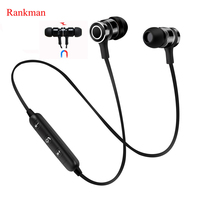 Rankman Sport Bluetooth Tai Nghe Nam Châm Tai Nghe Giảm Tiếng Ồn DSP Earbuds Stereo Tai Nghe Không Dây với Mic cho điện thoại