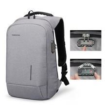Kingsons 2018 New School Bag Backpacks Anti-theft Lock Backpack Phone Sucker Laptop Bags 1315 USB Charging Fashion