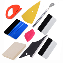 FOSHIO Car Film Vinyl Wrap Tools Set Carbon Fiber Wrapping Squeegee Cutter DIY Knife Kit Auto Window Tint Accessories