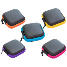 Mini Cute Earbuds Earphone Zipper Bag EVA Simple Headphone Hard Cover Case Protective Usb Cable Organizer Headset Bags