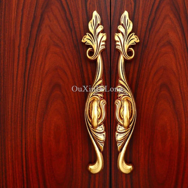 Hot 5Pair or 10PCS European Antique Kitchen Door Furniture Handles Retro Cupboard Drawer Wardrobe Cabinet Pulls Handles & Knobs - 3