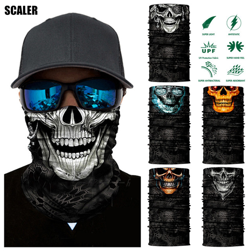 Face Neck Tube Bandana Scarf Mask Camouflag Motorcycle Headband UV Seamless US Unisex Accessories