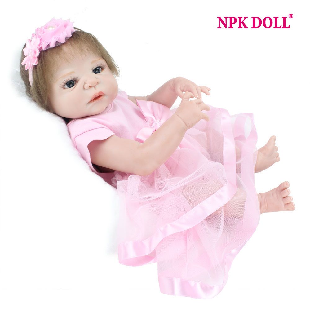 NPKDOLL 55 cm Doll Soft Silicone Reborn Realistic Newborn Reborn Babies Dolls For Girls Toys The Best Birthday Gift For Kids