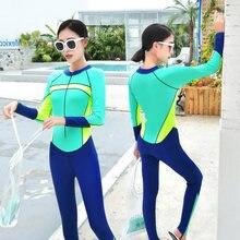 dd519e2cc45fe Long Sleeve Swimwear Full Body Swimsuit Women One Piece Sport Bathing Suit  Rash Guard Sunscreen Surf