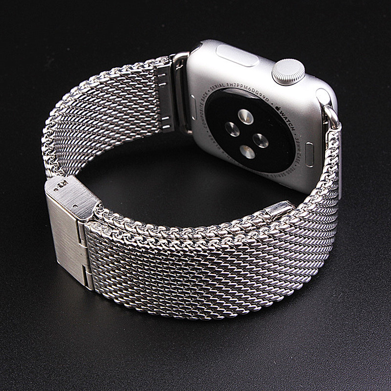 ASHEI Milanese Loop Watch Strap For Apple Watch Band 42mm Stainless Steel Mesh Braclet Wristband For Iwatch 38mm Series 3 2 1ASHEI Milanese Loop Watch Strap For Apple Watch Band 42mm Stainless Steel Mesh Braclet Wristband For Iwatch 38mm Series 3 2 1