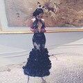 Vestido de festa preto sem mangas prom dress abrir mama elegante longo vestidos de baile 2017 custom made sereia branco prom dress