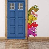 85*30 см 3D Наклейка на стену «динозавр» тропический Животные двери украшения детская спальня стены Переводные картинки художественная роспи...