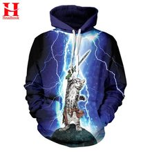 3D cat hoodie warrior kitty