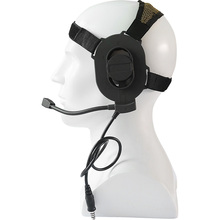 Tactical Airsoft Bowman Elite II Headset Unilateral Headphone  Adjustable Harness Military Earnuffs Fit All PTT Plug