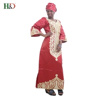 H D 2017 New Style African Bazin Riche Dress For Women100 Cotton Dashiki Traditional Woman Robes