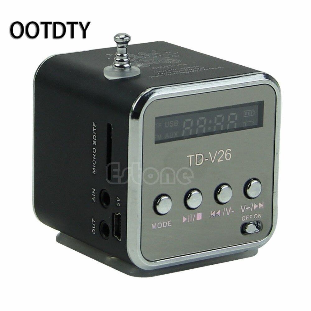 Mini Micro SD TF USB Haut-Parleur Lecteur de Musique Portable Radio FM Stéréo PC mp3