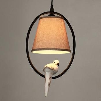American  iron bird cage pendant light living room bedroom hanging lighting